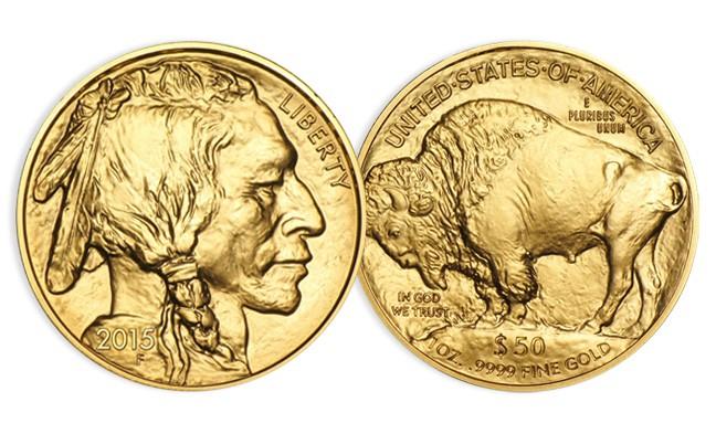 1 once Or American Buffalo