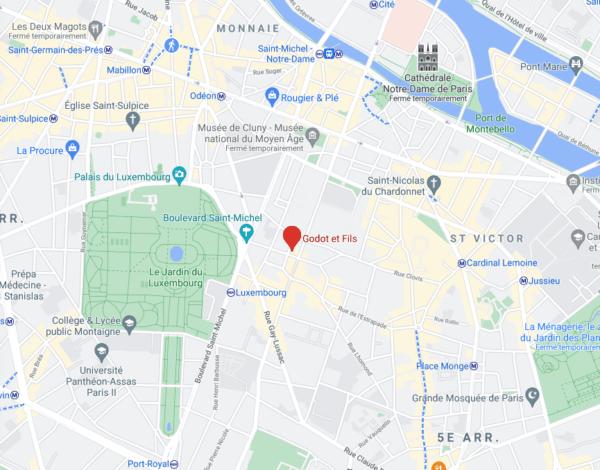 google map agence godot et fils