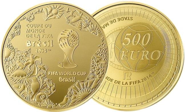 coupe du monde 2014 pi ces or et argent monnaie de paris. Black Bedroom Furniture Sets. Home Design Ideas