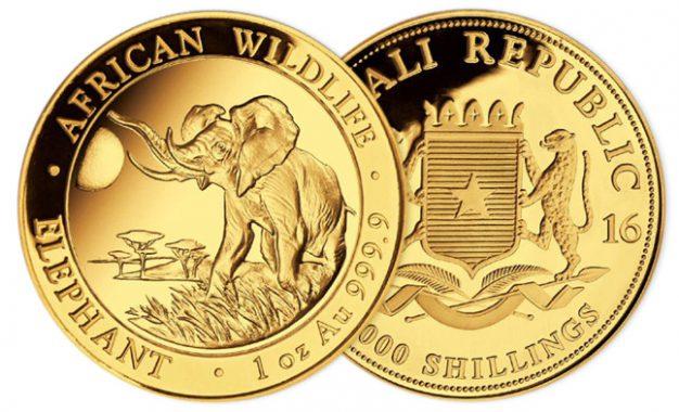 Éléphant de Somalie 1 once Or