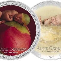 Pièces en argent : une collection par Anne Geddes