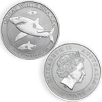 1/2 once Requin blanc Argent
